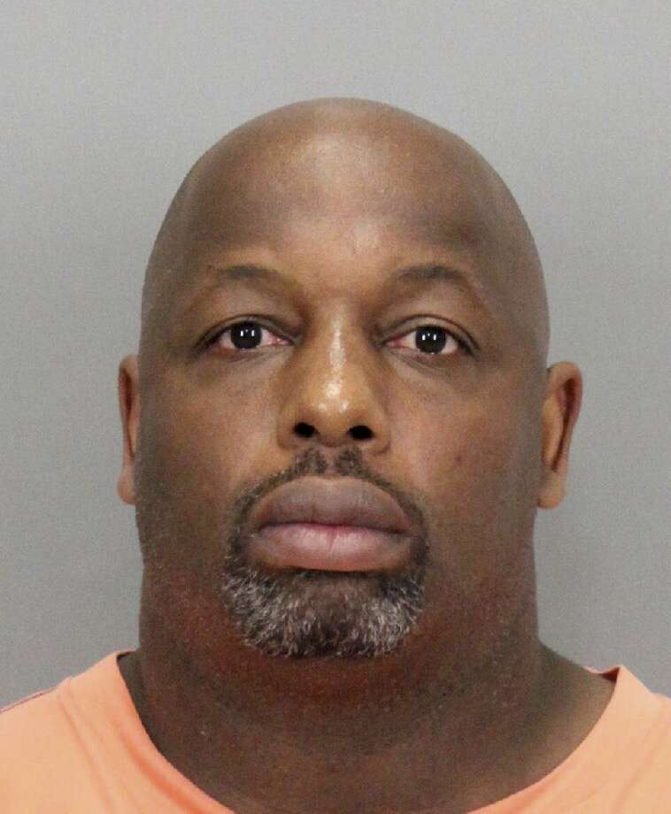 """In this undated booking photo released by the Santa Clara County District Attorney is former NFL football player Dana Stubblefield. Prosecutors say they have charged former San Francisco 49er Dana Stubblefield with the rape of a """"developmentally delayed"""" woman. The Santa Clara County District Attorney's Office says the 45-year-old Stubblefield was charged Monday, May 2, 2016, with sexually assaulting the woman last year at his Morgan Hill home. Photo: Associated Press"""