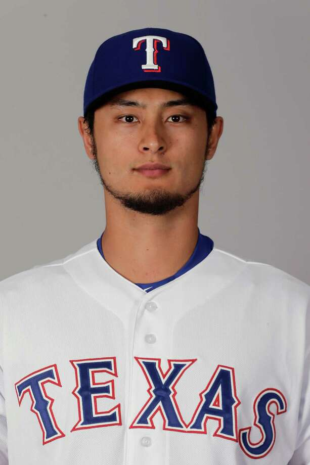 This is a 2016 photo of Yu Darvish of the Texas Rangers baseball team. This image reflects the Texas Rangers active roster as of Sunday, Feb. 28, 2016, when this image was taken. (AP Photo/Charlie Riedel) Photo: Charlie Riedel, STF / MLBPV AP