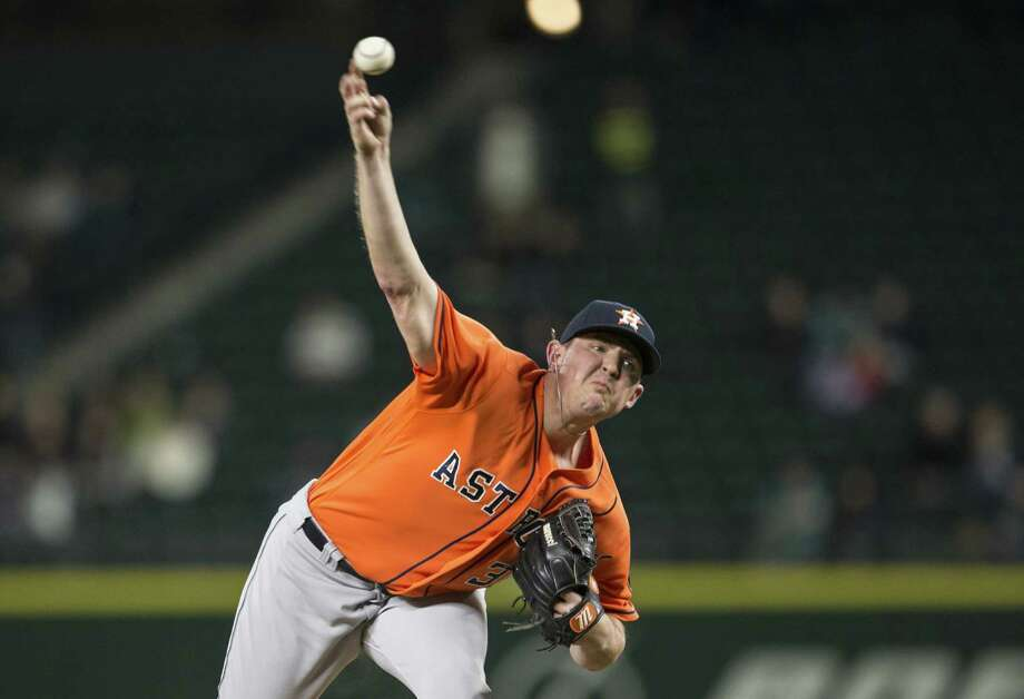 SEATTLE, WA - APRIL 27: Reliever Will Harris #36 delivers a pitch during the seventh inning of a game against the Seattle Mariners at Safeco Field on April 27, 2016 in Seattle, Washington. The Astros won the game 7-4. (Photo by Stephen Brashear/Getty Images) Photo: Stephen Brashear, Stringer / 2016 Getty Images