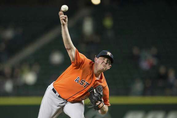 SEATTLE, WA - APRIL 27: Reliever Will Harris #36 delivers a pitch during the seventh inning of a game against the Seattle Mariners at Safeco Field on April 27, 2016 in Seattle, Washington. The Astros won the game 7-4. (Photo by Stephen Brashear/Getty Images)