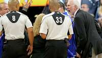 Wild ending featured Spurs fan grabbing Steven Adams, botched officials' call - Photo