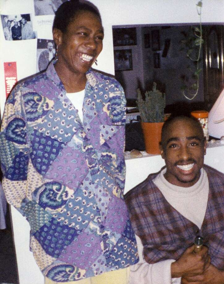 "The late rapper and poet Tupac Shakur (right) with his mother Afeni in a scene from ""Tupac: Resurrection."" Photo: COURTESY PHOTO"