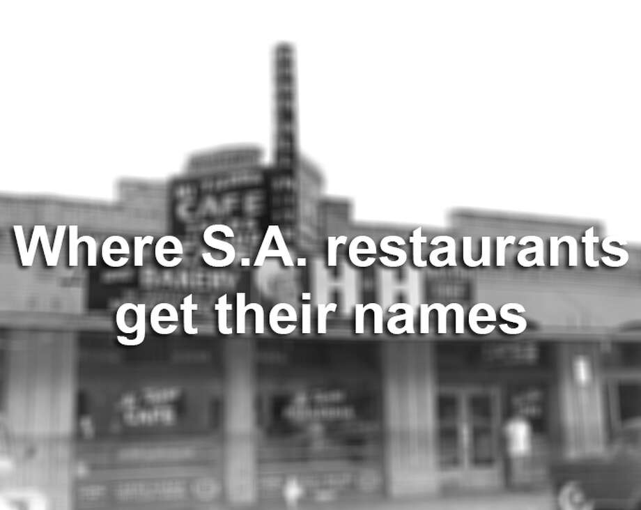Click through the slideshow to see where local restaurants like Mi Tierra and The Esquire Tavern got their names.