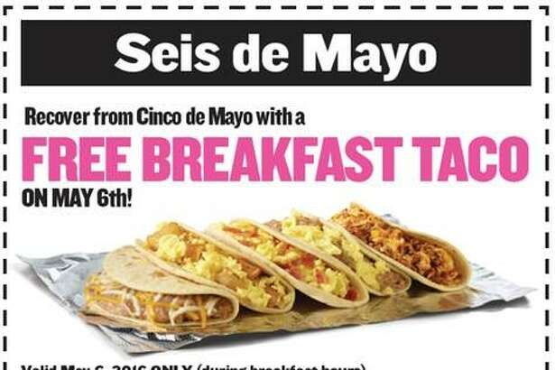 "The coupon for ""Seis de Hangover"" will be accessible on Taco Cabana's social media platforms starting May 5."
