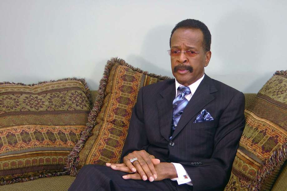 """This image made from a video, former Prince bassist Larry Graham talks about Prince in an Associated Press interview on Monday, May 2, 2016. Graham, a famous bassist and longtime friend of pop megastar Prince says the artist found """"real happiness"""" in his faith and could stay up all night talking about the Bible. Graham tells The Associated Press that Prince became a Jehovah's Witness later in life and that it changed the star's music and lifestyle. (AP Photo/Jeff Baenen) ORG XMIT: RPJB103 Photo: Jeff Baenen / AP"""