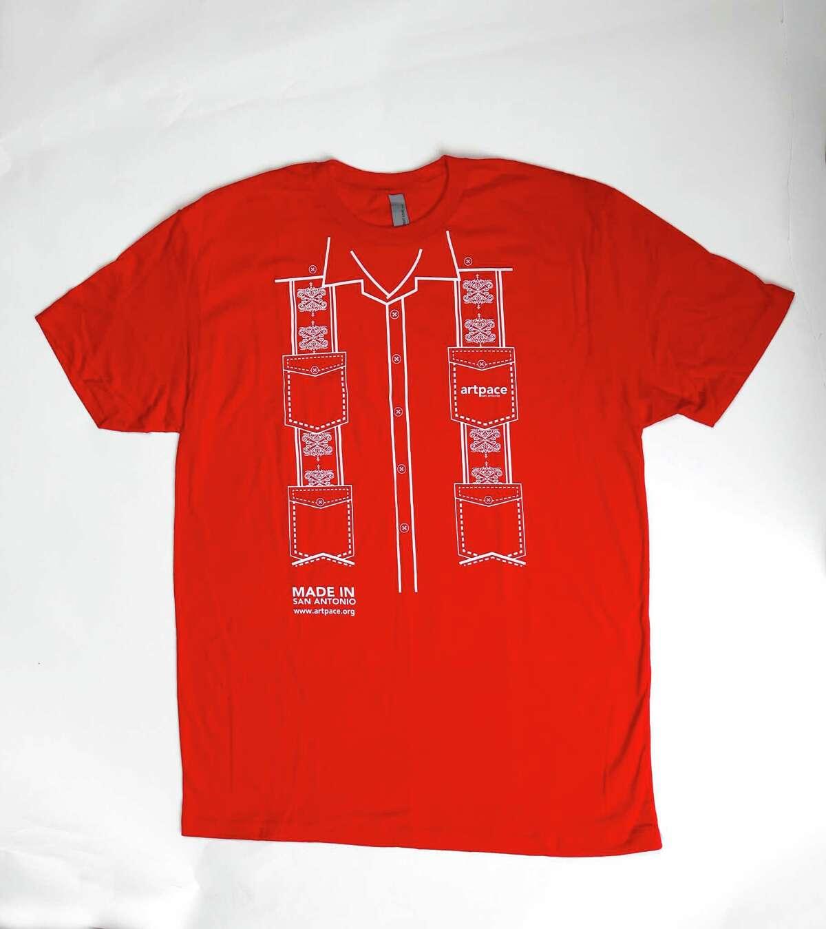 Guayabera T-shirt ($20 at Artpace, 445 N. Main Ave., 210-212-4900, artpace.org). The great ?