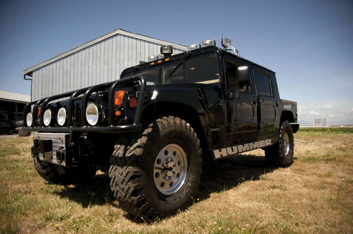 This Hummer, up for an online auction later this month, was originally owned by slain rapper Tupac Shakur.