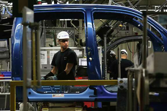 Toyota Motor Corp. has extended the shutdown of its manufacturing plant in San Antonio, shown here. The South Side plant and Toyota's other North American factories are scheduled to resume production on April 20.