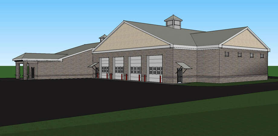 After several years of waiting and planning, the construction process for the new Schoharie Fire Station is moving closer to a start date. This is a rednering of the new building. (Mitchell Associates Architects)