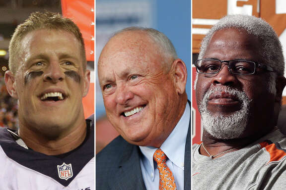 J.J. Watt (from left), Nolan Ryan and Earl Campbell are three Texas sports figures we'd take out on the campaign trail with us.