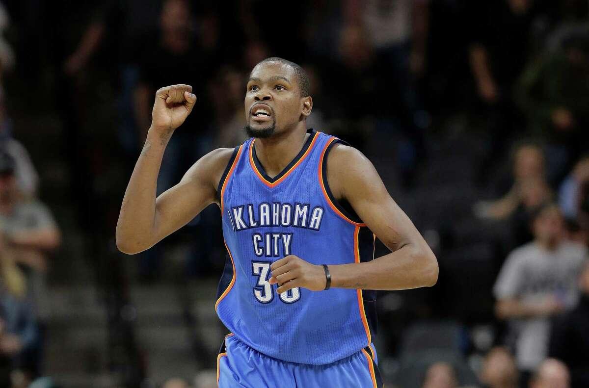 Kevin Durant 2015-16 averages 28.2 points, 8.2 rebounds, 5.0 assists