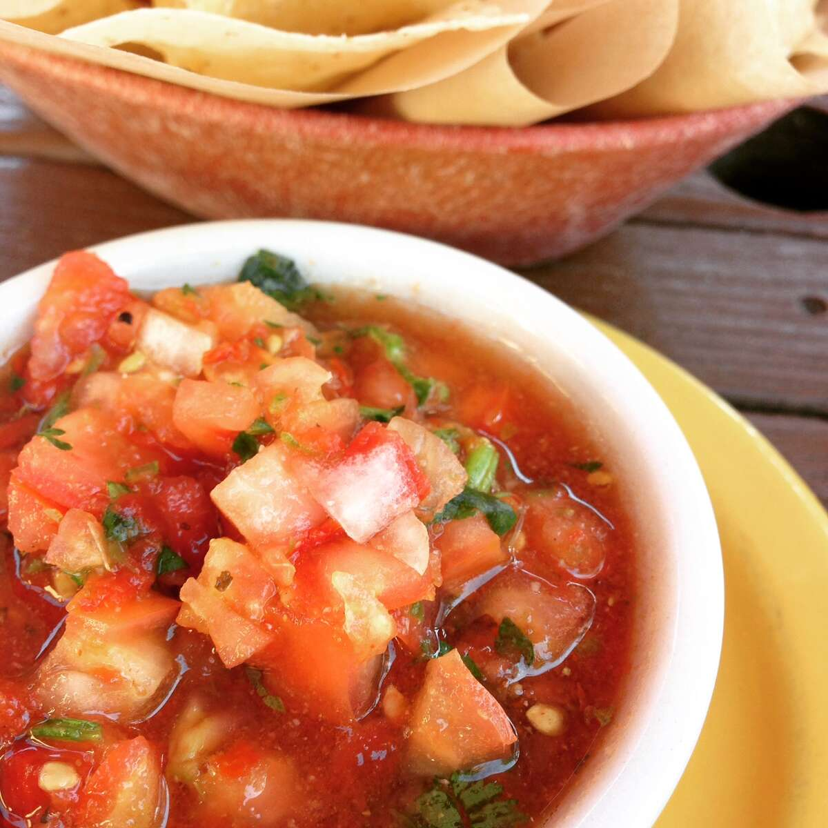 Lupe Tortilla Mexican Restaurant offers a chunky salsa.