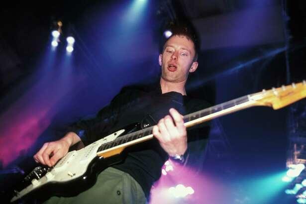 Thom Yorke performing live onstage.