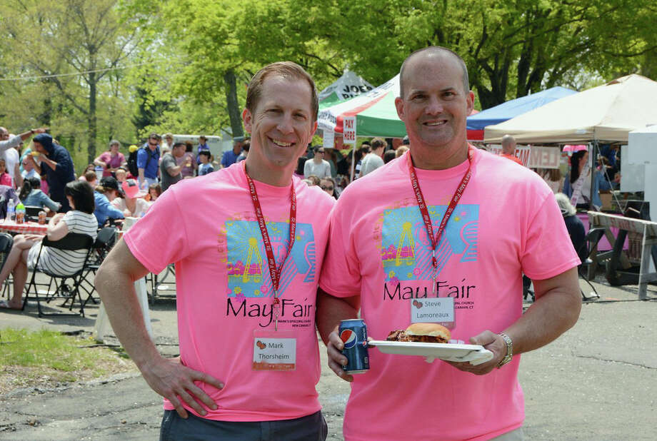 May Fair co-chairs Mark Thorsheim and Steve Lamoreaux. Photo: Contributed / Hearst Connecticut Media / New Canaan News