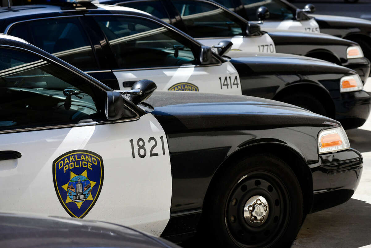 Oakland Police Department vehicles are seen in a file photo.