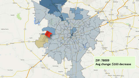 Map: Average residential property value increases in Bexar ...