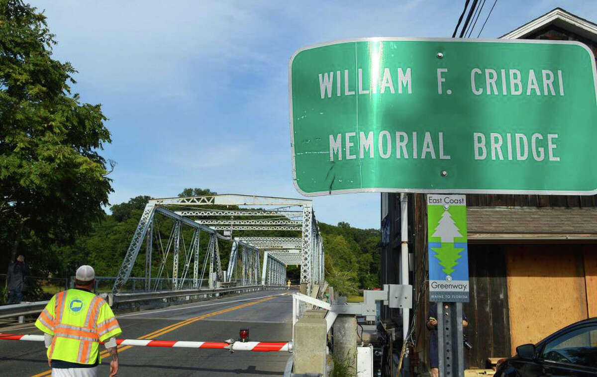 The 132-year-old swing bridge over the Saugatuck River is formally known as the William F. Cribari Memorial Bridge.