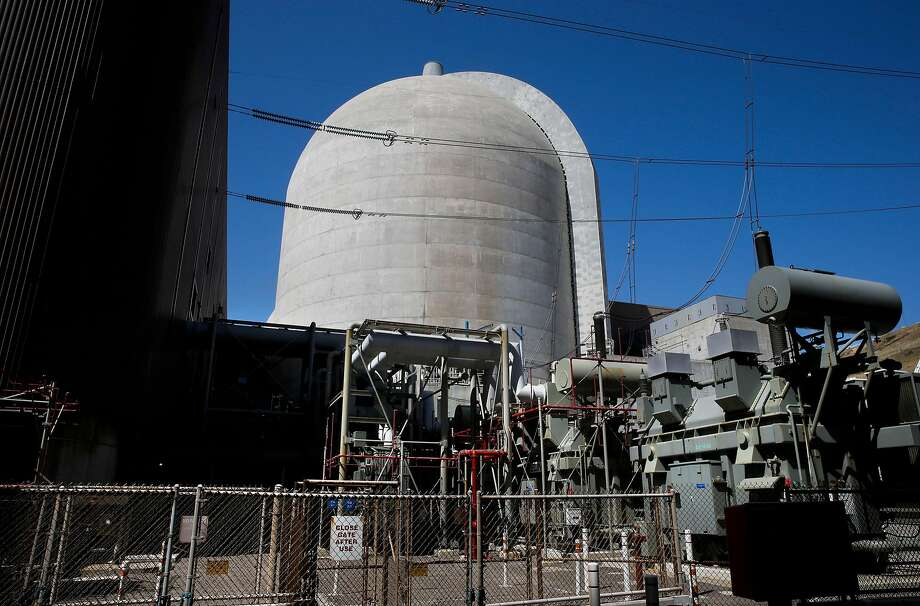 The steam turbine and generator building, top, and the retrofitted reactors, above, at Diablo Canyon nuclear plant will be shut down under PG&E's plan. Photo: Michael Macor, The Chronicle