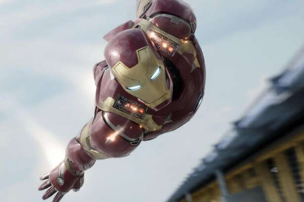 "In this image released by Disney, Iron Man, portrayed by Robert Downey Jr., appears in a scene from ""Captain America: Civil War."" (Disney-Marvel via AP)"