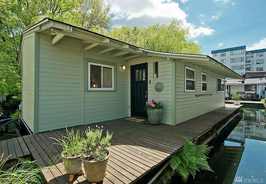 The first home,2331 Fairview Ave. E. Unit X, is listed for $650,000. The two bedroom, one bathroom floating home includes French doors that open to a large back deck. The home is 865 square feet.There will be a showing for this home on Sunday, June 26 from 12:30 - 3:30 p.m.You can see the full listing here. Photo: SeattleAfloat.com