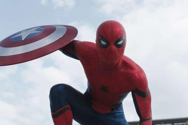 Tom Holland in a still from Marvel's Captain America: Civil War.