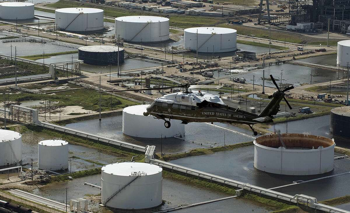 """People realized how vulnerable (and important) the Port of Houston is Since Hurricane Ike, calls for an """"Ike Dike"""" or coastal barrier system have been proposed. In a letter to President Donald Trump, Texas General Land Office Commissioner George P. Bush said protecting the Houston/Galveston Bay Area - home to the No. 1 supplier of energy products to the U.S. military, more than a quarter of the nation's oil-refining capacity and half the country's jet fuel- was """"crucial to national security."""""""