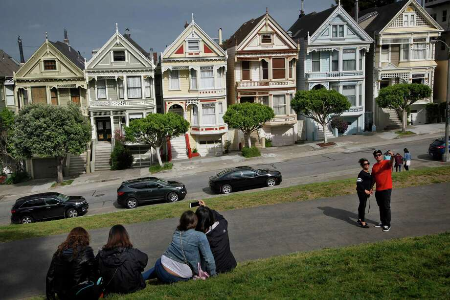 "Home prices are still  sky-high  in much of California, including  San Francisco's Alamo Square, which features the famous ""Painted Ladies.""  / THE WASHINGTON POST"