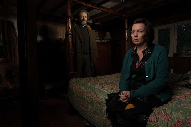 """Julian Barratt and Olivia Colman in """"Flowers,"""" a new comedy drama on the subscription comedy site Seeso"""