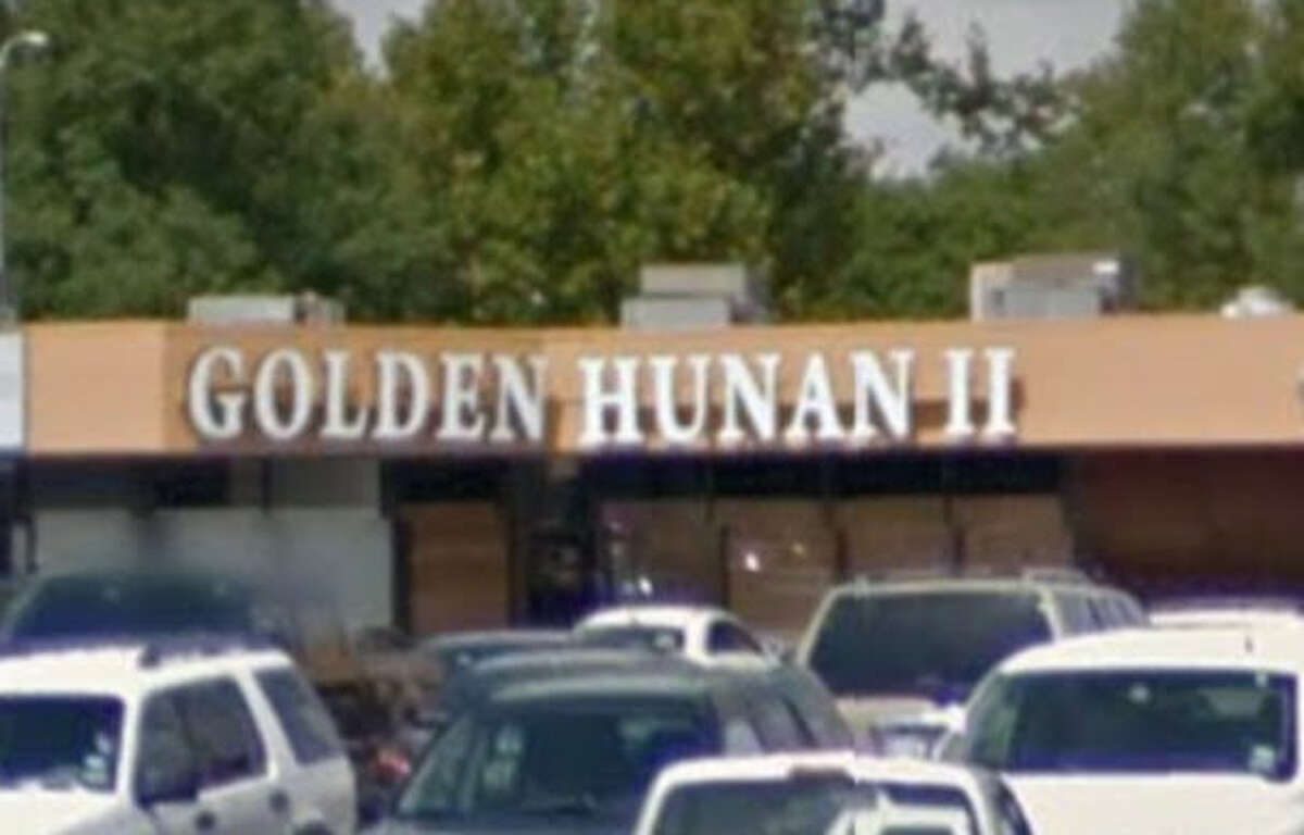 Golden Hunan #2 2953 Bingle, Houston, Texas 77055 Demerits: 15 Inspection highlights: Observed rodent droppings in dry food storage area on shelves, on floor under shelving, and on shelves of prep table and rice table; observed flies throughout kitchen and dining area; and 1 roach crawled on prep table. Measured potentially hazardous food (chicken, shrimp, beef) at an improper temperature.