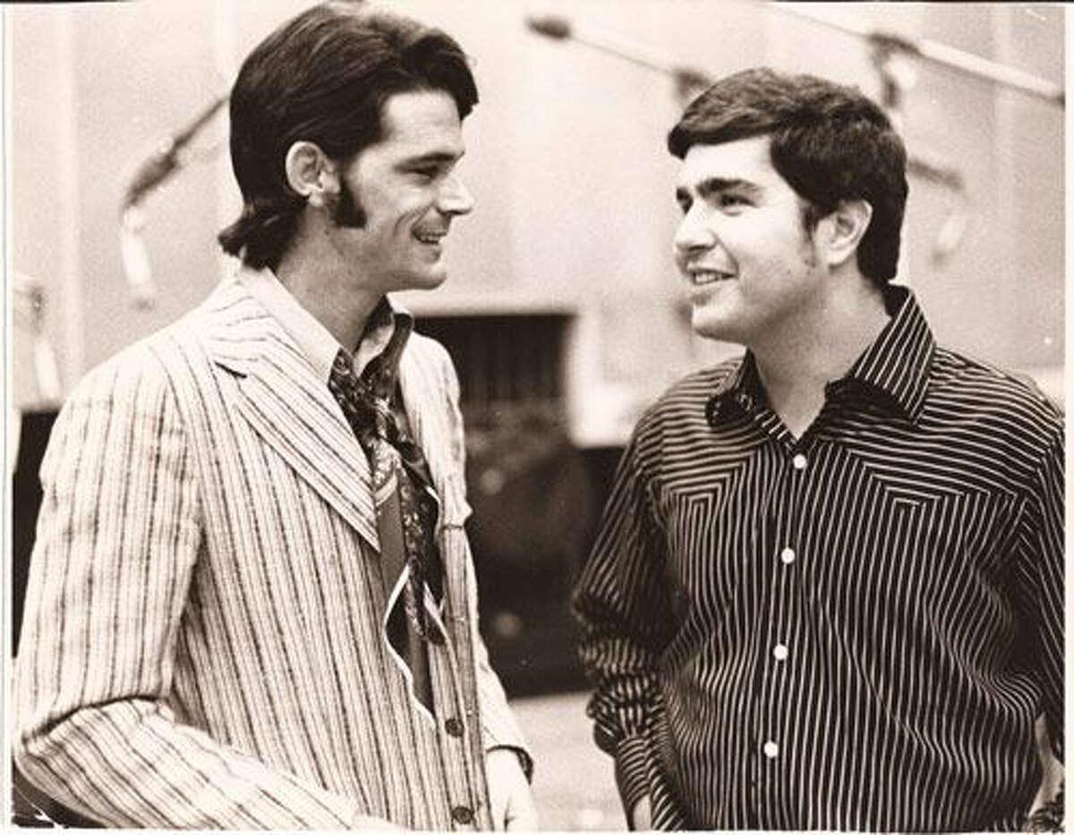 1960s - singer B.J. Thomas (left) and Steve Tyrell courtesy of Koch Records