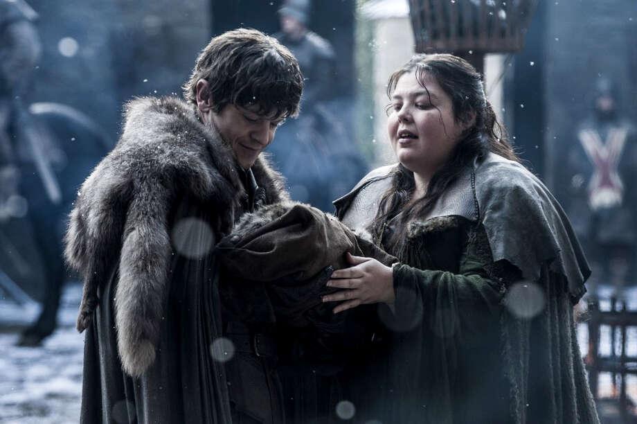 "Iwan Rheon and Elizabeth Webster in ""Game of Thrones."" Photo: Helen Sloan, HBO / HBO"