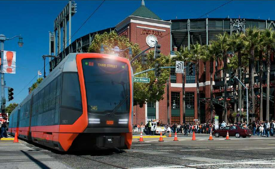 The Municipal Transportation Agency plans to buy up to 260 new light-rail cars to replace and expand its Muni Metro fleet of 151 cars. If the Board of Supervisors approves the contract, Siemens Corp. would build the S200 light-rail vehicles, which have three different exterior designs, in Sacramento. A prototype car would arrive by the end of 2016 with the first 24 cars delivered in 2018, in time for the Central Subway opening. Photo: Siemens