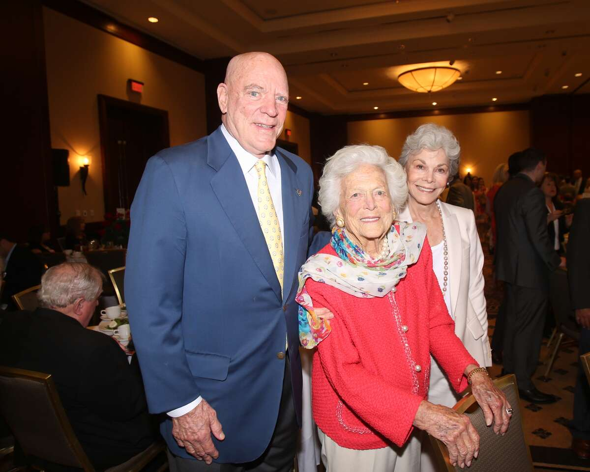 Robert McNair, Barbara Bush, and Janice McNair