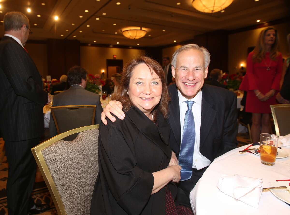 First lady Cecilia Abbott and Governor Greg Abbott
