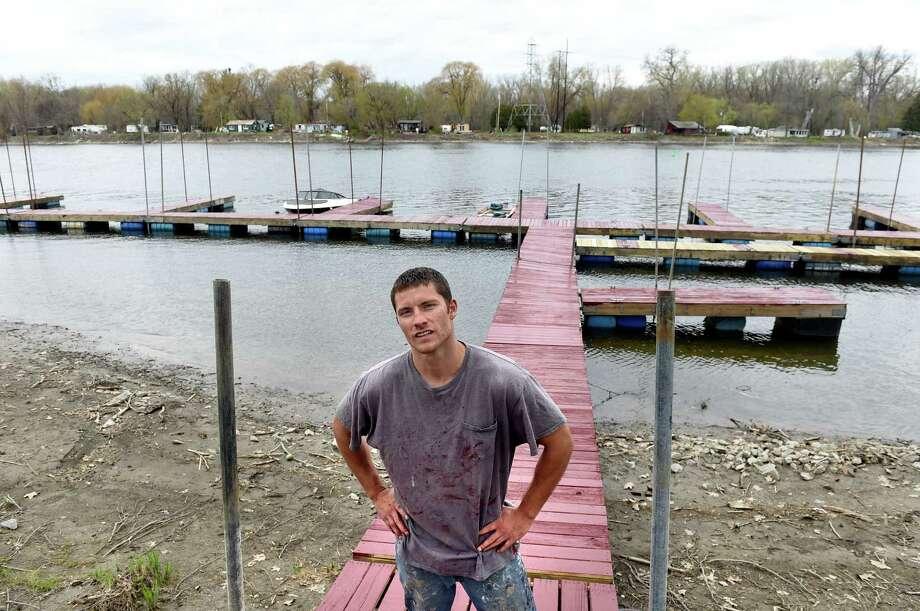 Hudson River marina owner Robert Chartier on Friday, April 29, 2016, at Eastside Marina in Troy, N.Y. Chartier rents slips, kayaks and canoes and offers guided fishing tours. (Cindy Schultz / Times Union) Photo: Cindy Schultz / Albany Times Union