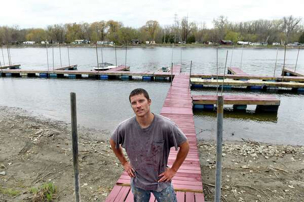 Hudson River marina owner Robert Chartier on Friday, April 29, 2016, at Eastside Marina in Troy, N.Y. Chartier rents slips, kayaks and canoes and offers guided fishing tours. (Cindy Schultz / Times Union)