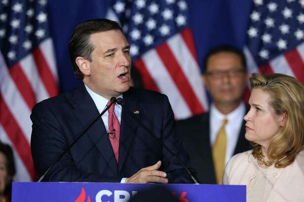 Republican presidential candidate, Sen. Ted Cruz (R-TX) speaks as wife Heidi Cruz looks on during an election night watch party at the Crowne Plaza Downtown Union Station on May 3 in Indianapolis, Ind. Cruz lost the Indiana primary to Republican rival Donald Trump.