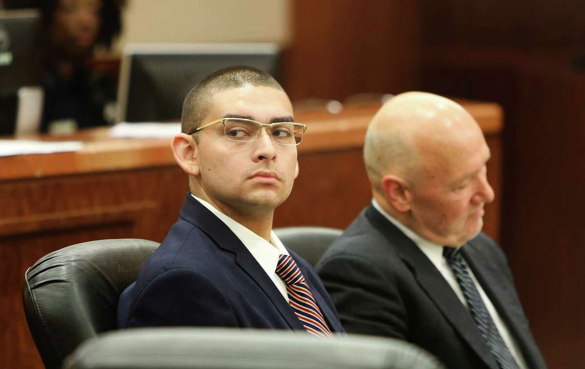 Opening statements in assault trial of Eddie Herrera, accused of choking his prom date to death during rough sex last year, Monday, May 2, 2016, in Houston. She was found with elevated amounts of hydrocodone, so it is unclear if she was strangled or died of an overdose. He faces life in prison if convicted. Steve Gonzales / Houston Chronicle )