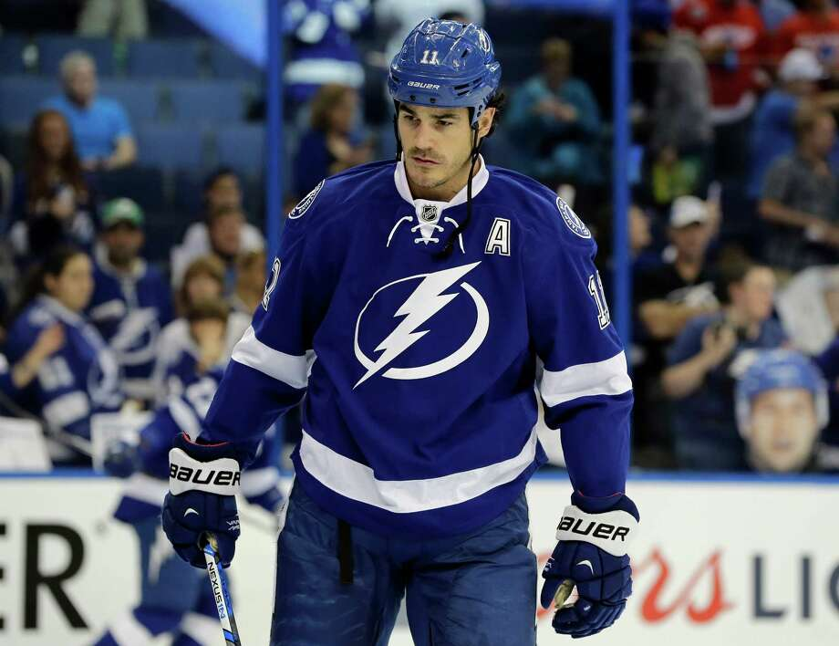 Tampa Bay Lightning center Brian Boyle (11) before Game 2 in a first-round NHL hockey Stanley Cup playoff series against the Detroit Red Wings Friday, April 15, 2016, in Tampa, Fla. (AP Photo/Chris O'Meara) Photo: Chris O'Meara, STF / AP