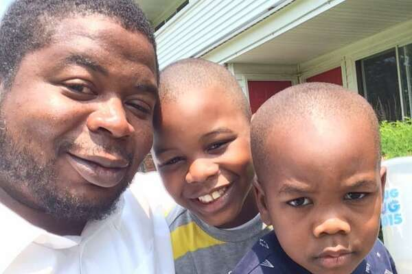 Edson Thevenin with his sons.