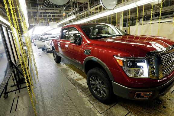 A Titan rolls off the line at a plant in Canton, Miss. Nissan's sales rose 12.8 percent in April.