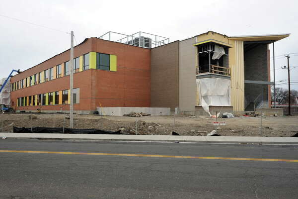 Construction continues on the Geraldine Claytor Magnet Academy, a new school on Ocean Terrace that will replace the former Longfellow School, which stood at the same location in Bridgeport, Conn. Jan. 22, 2016.