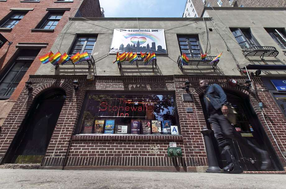 The Stonewall Inn, in New York's Greenwich Village, was recognized as a national monument in June. Photo: Richard Drew, Associated Press