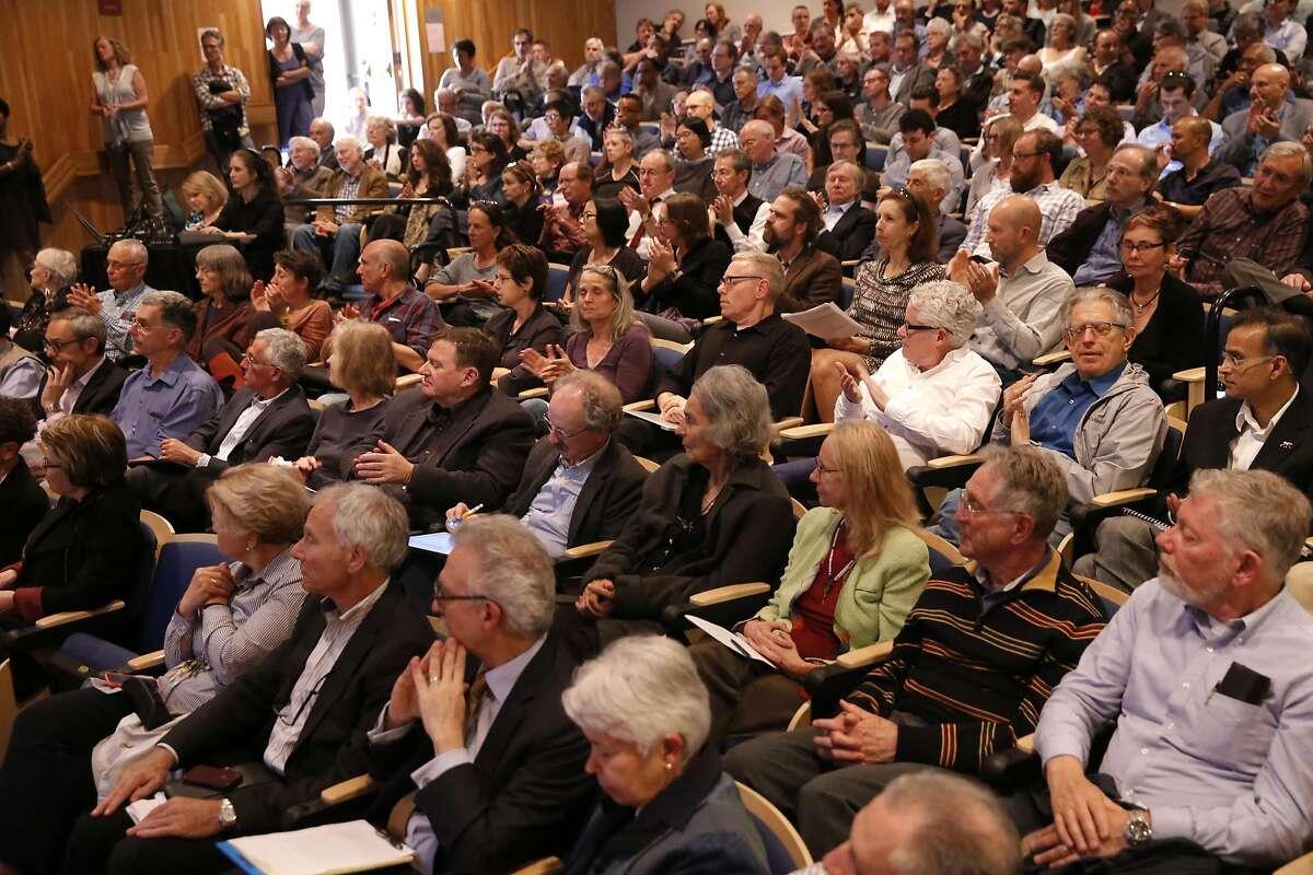 Members of the faculty senate during a meeting at UC Berkley on Tues. May 3, 2016, in Berkeley, California.