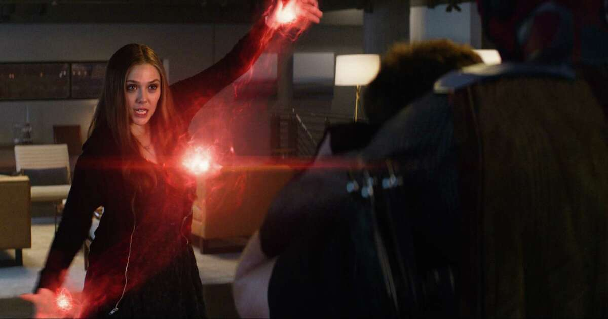 In this image released by Disney, Elizabeth Olsen appears in a scene from