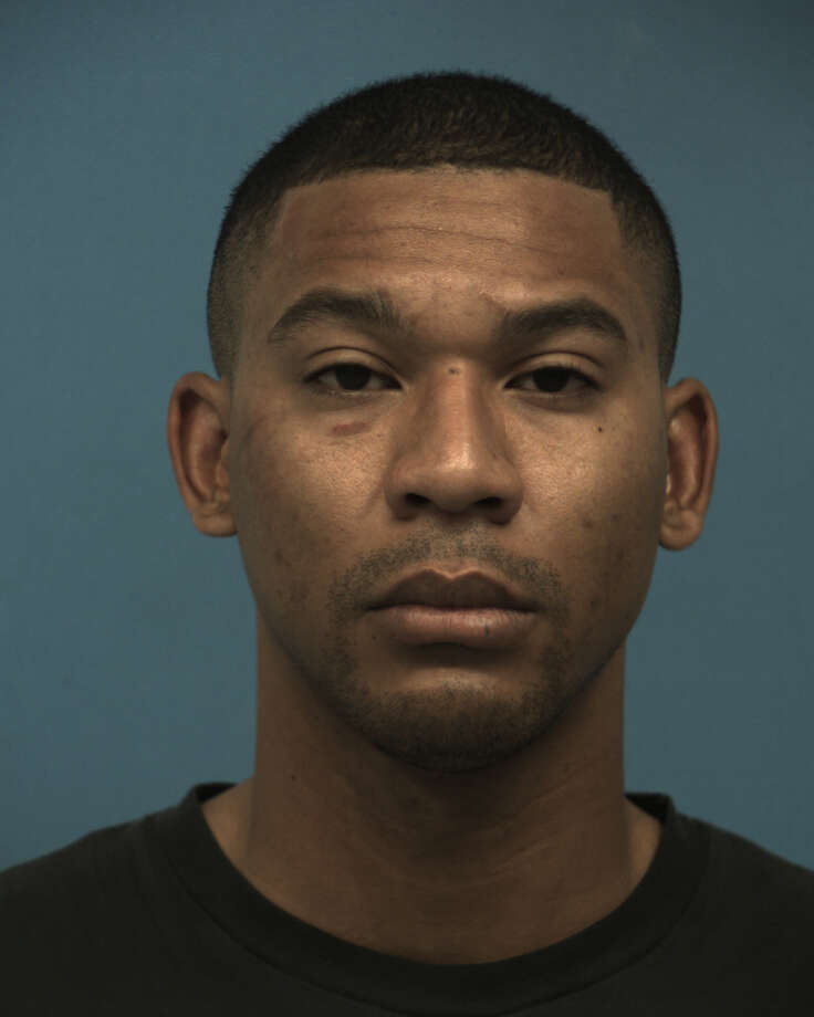 Mario Bernard Johnson, a 27-year-old Williamson County sheriff's deputy, was charged Sunday on with assault/family violence by house member impeding breathing/circulation, according to Williamson County Jail records. Johnson allegedly choked his girlfriend during an argument. Photo: Williamson County Jail