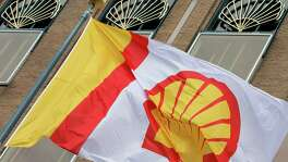 Royal Dutch Shell said Wednesday that profit, adjusted for changes in the value of inventories and excluding one-time items, dropped 58 percent to $1.6 billion.