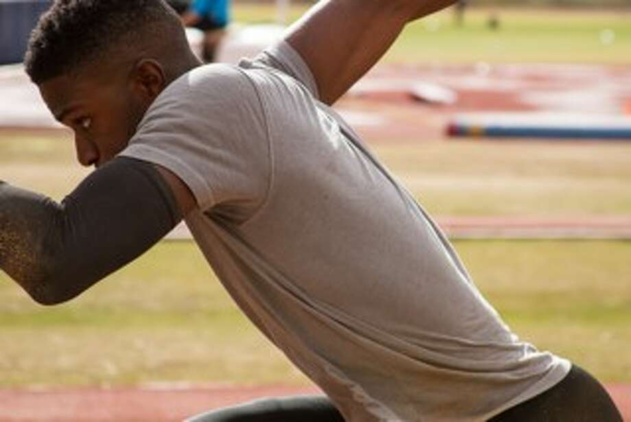Melvin Echard, a former Smithson Valley and Texas A&M champion jumper, is in Phoenix training for the 2016 Summer Olympics. He had retired from the sport to focus on his family. Now hes put that on hold to take one more shot at earning a long jump gold medal. Photo: Courtesy Photo /Altis
