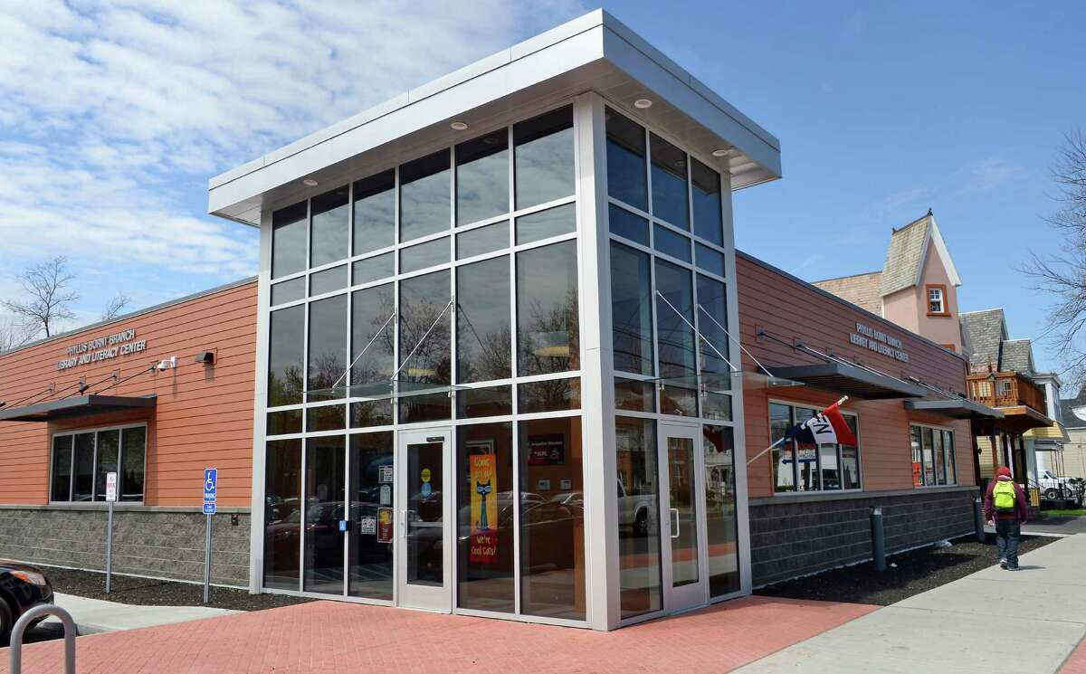The newly opened Phyllis Bornt Branch Library and Literacy Center on State Street Friday April 29, 2016 in Schenectady, NY. (John Carl D'Annibale / Times Union)