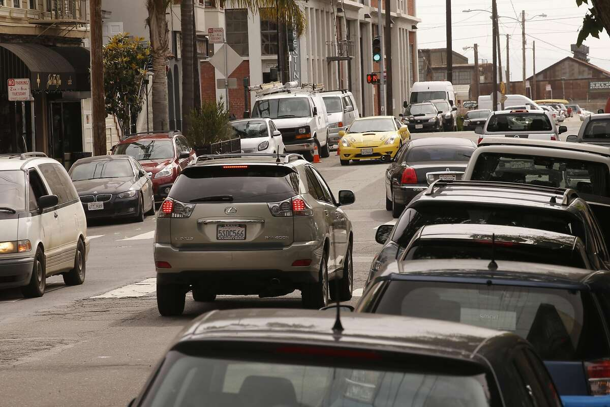 Parking near the intersection of Tennessee and 22nd Streets always a challenge in the Dogpatch neighborhood of San Francisco, California, on Wed. May 4, 2016.
